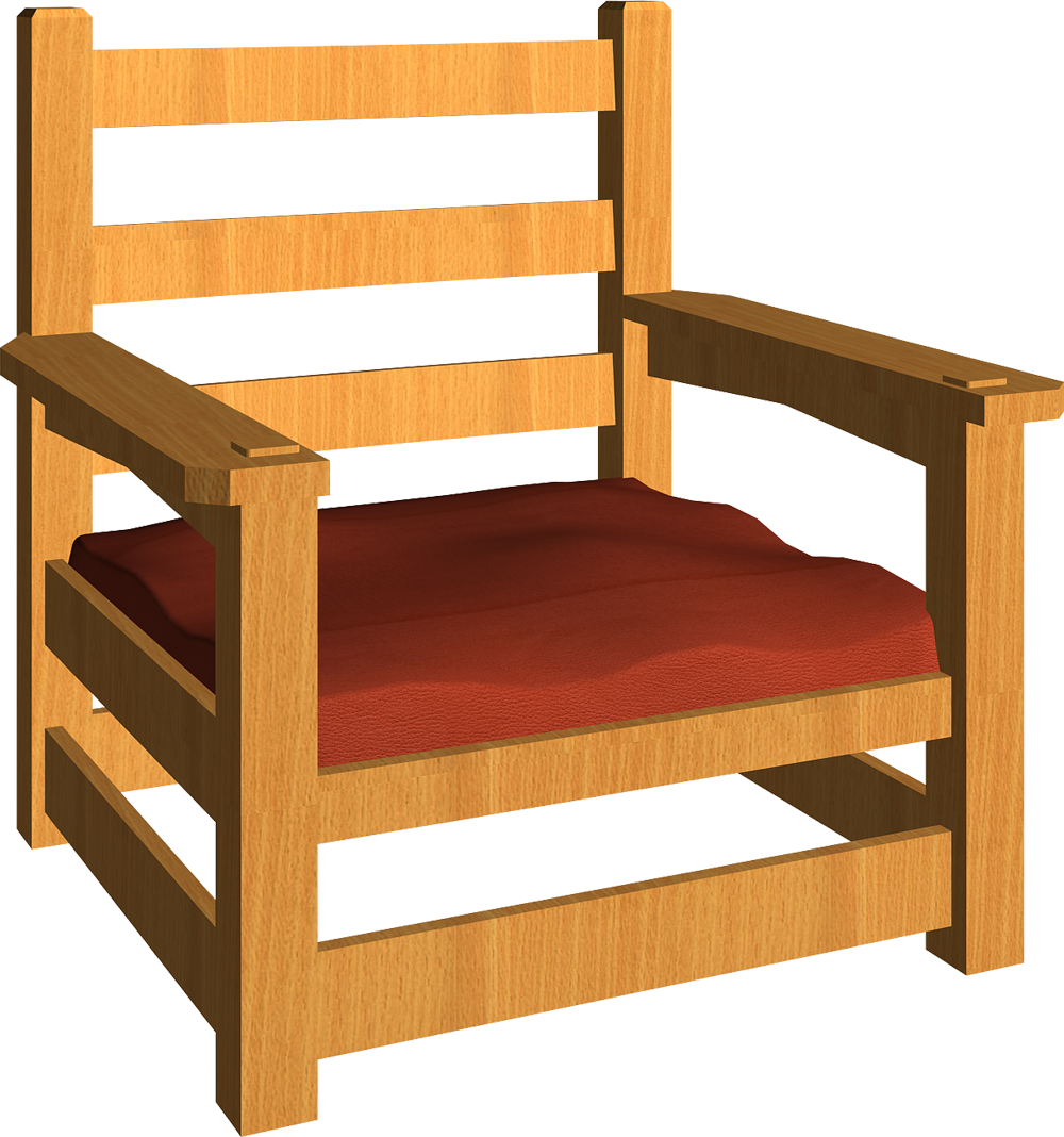 Stickley Armchair 03Right. Axonometric