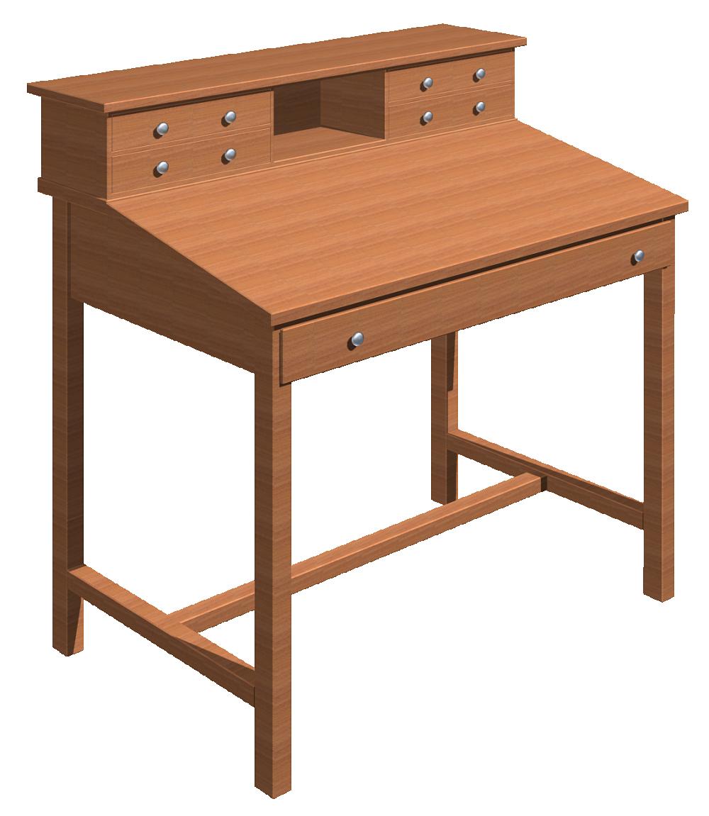 Cad And Bim Object Slanted Desk Polantis