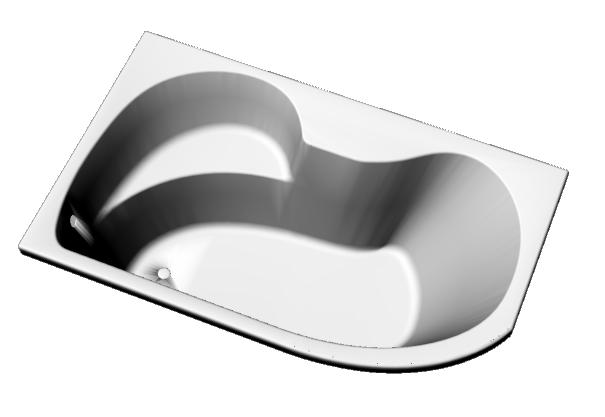 Corner Bathtub 1500x900