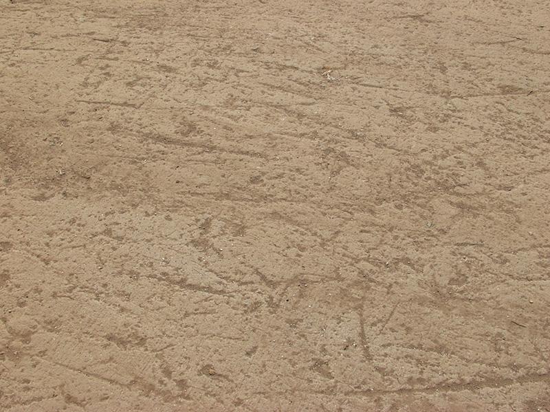 Concrete rough scratches