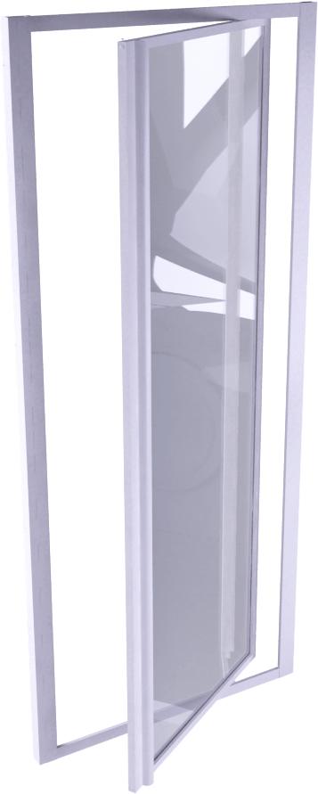 Supra Porte P porte pivotante 90 cm  3D View
