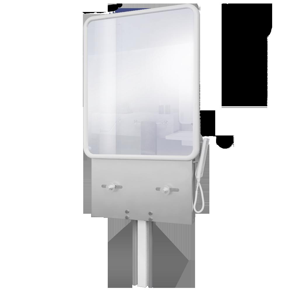 Objeto cad e bim support lavabo reglable electrique avec - Meuble lavabo avec miroir ...