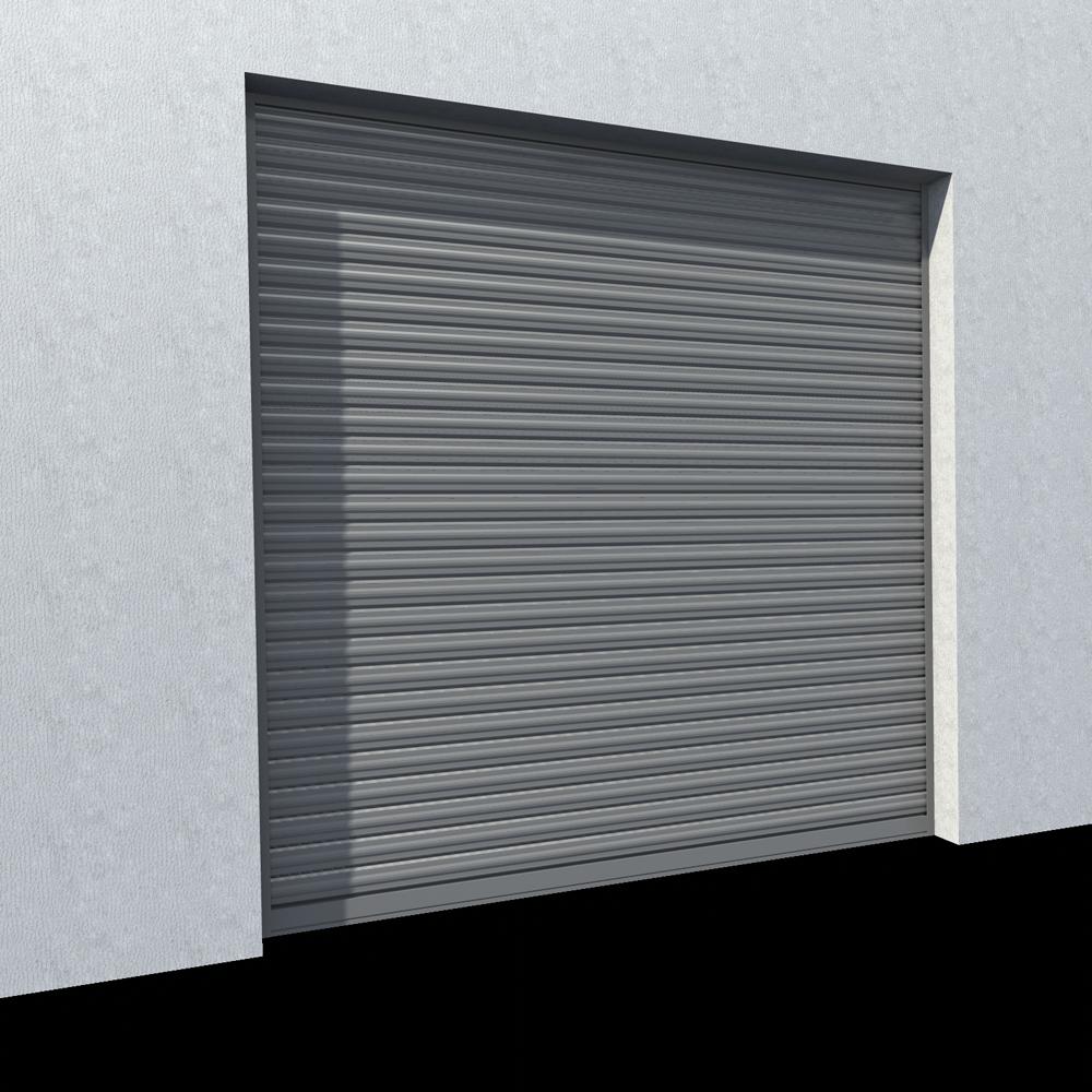 Rideau metallique Murax 110 galvanise  3D View