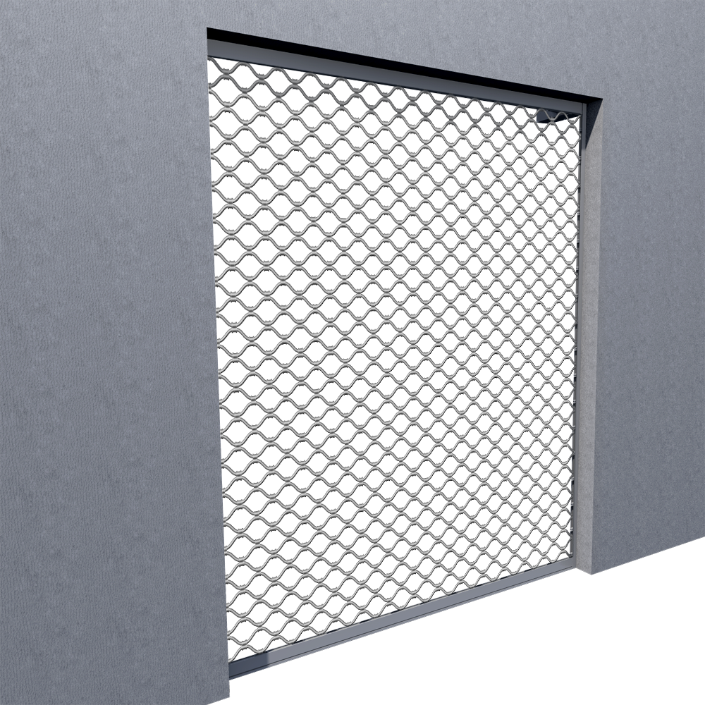 Grille ondulee Dentel  3D View