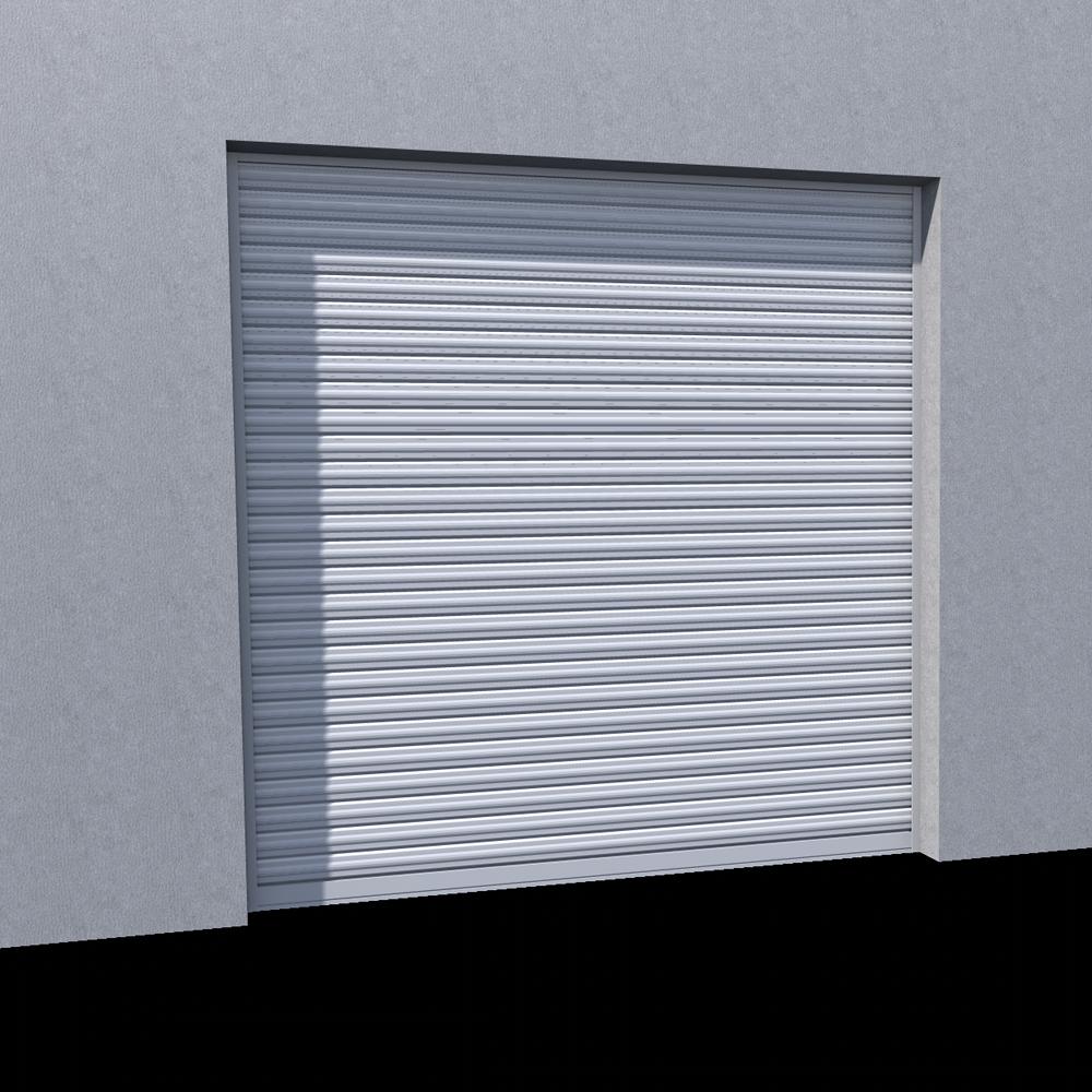 Objets bim et cao rideau metallique murax 110 laque ral for Volet roulant metallique garage