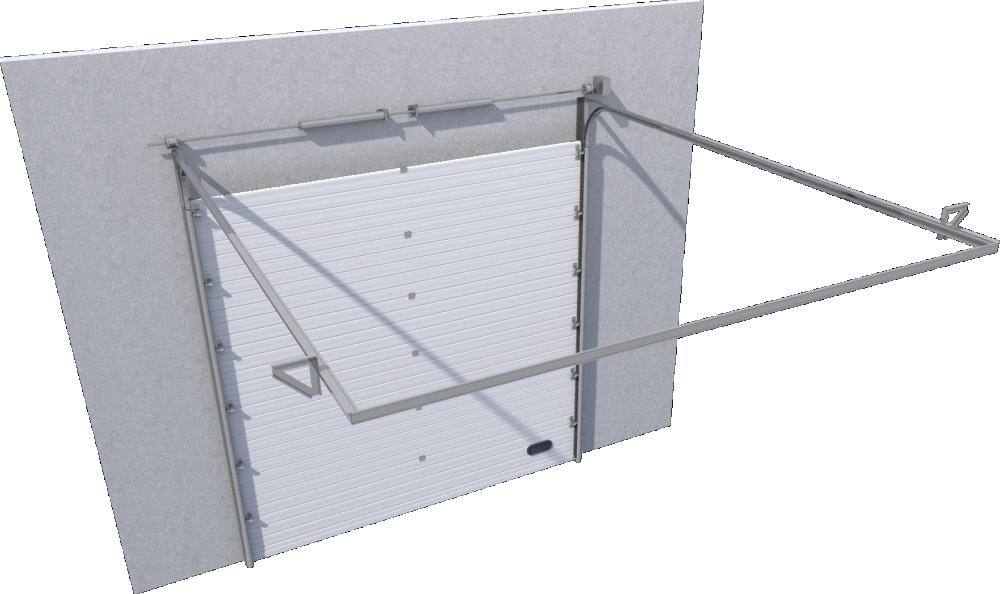 Objets bim et cao porte sectionnelle industrie rainuree for Porte de garage eveno