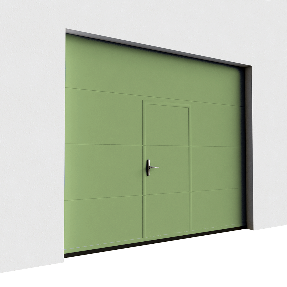 Tiane Veined Wood Plain with Wicket Door - Normal Lift