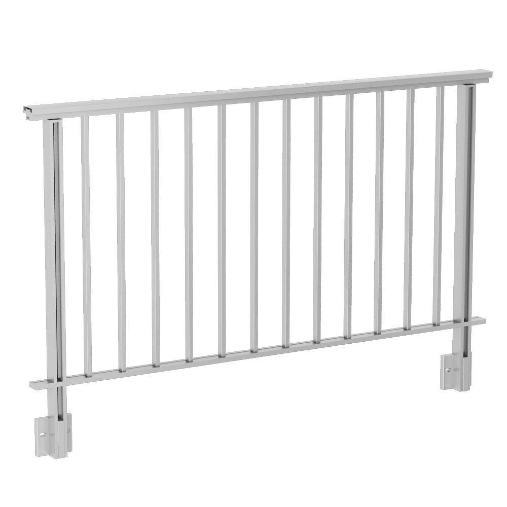 Balustrades with bars under handrail