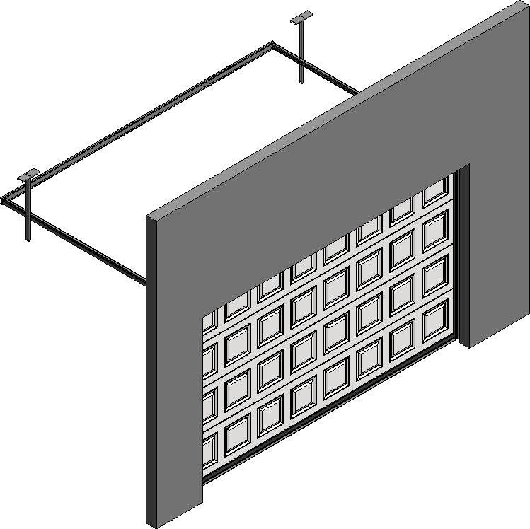 Cad and bim object 012 porte basculante safir s400 iso - Four avec porte retractable ...