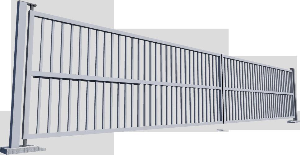 003 Portail battant SAFIR Vento  3D View
