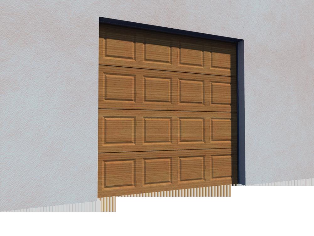 005 Porte sectionnelle ASTEC Serena avec cassettes en chene dore  3D View