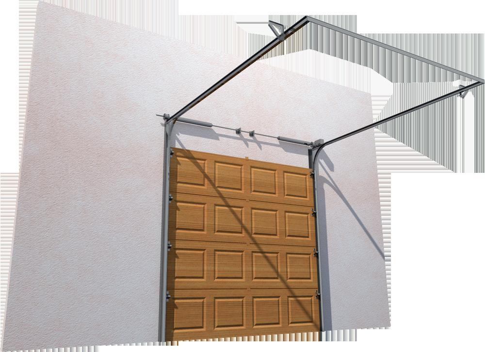 005 Porte sectionnelle ASTEC Serena avec cassettes en chene dore  Back