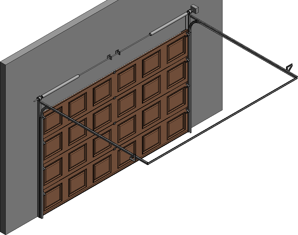 005 Porte sectionnelle ASTEC Serena avec cassettes en chene dore  Left