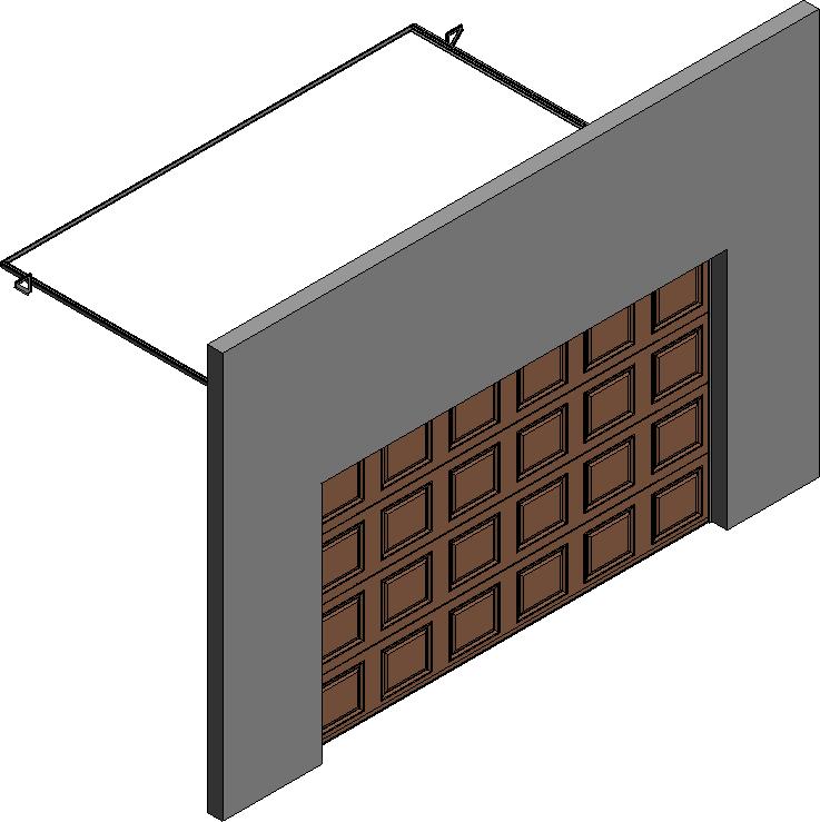 005 Porte sectionnelle ASTEC Serena avec cassettes en chene dore  Right