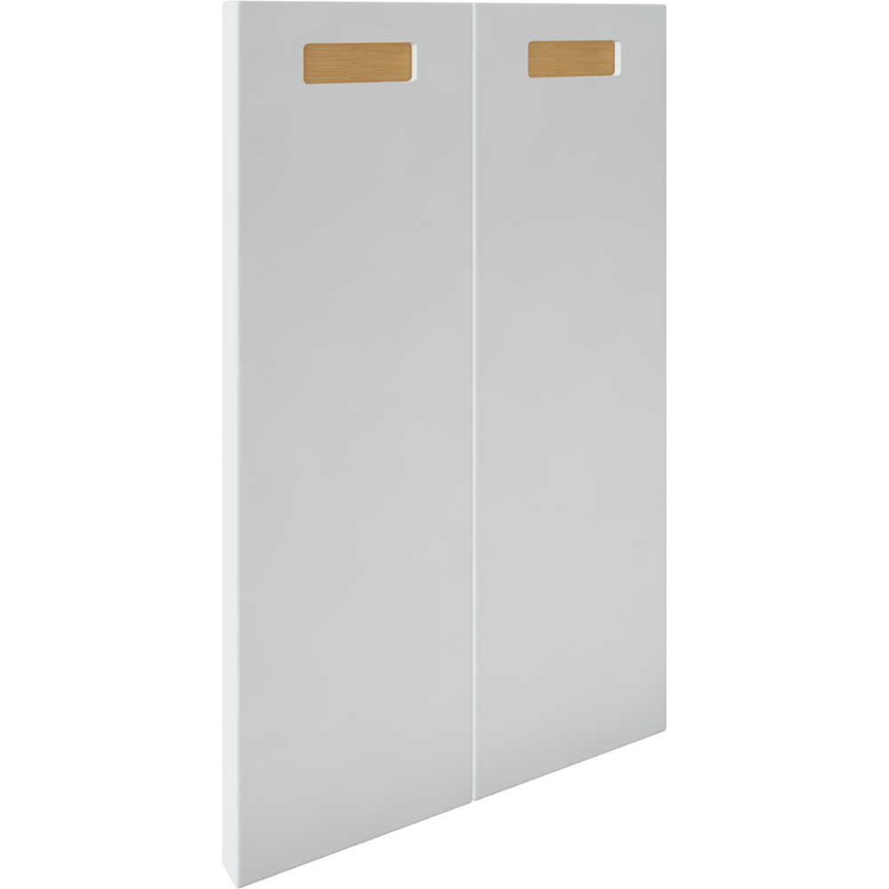 2 Door Corner Base Cabinet Set Right Hand White  3D View