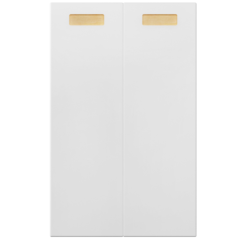 2 Door Corner Base Cabinet Set Right Hand White  Front
