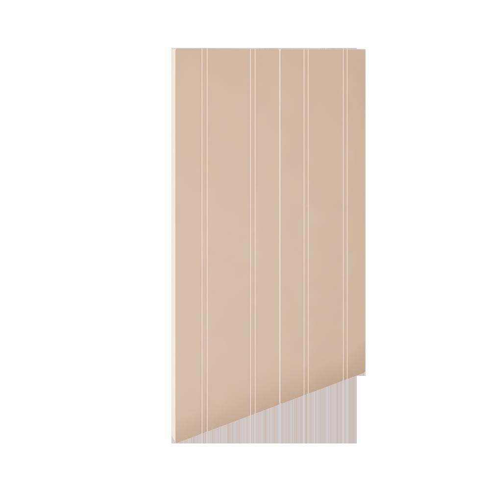 2 Door Corner Base Cabinet Set Off White  3D View