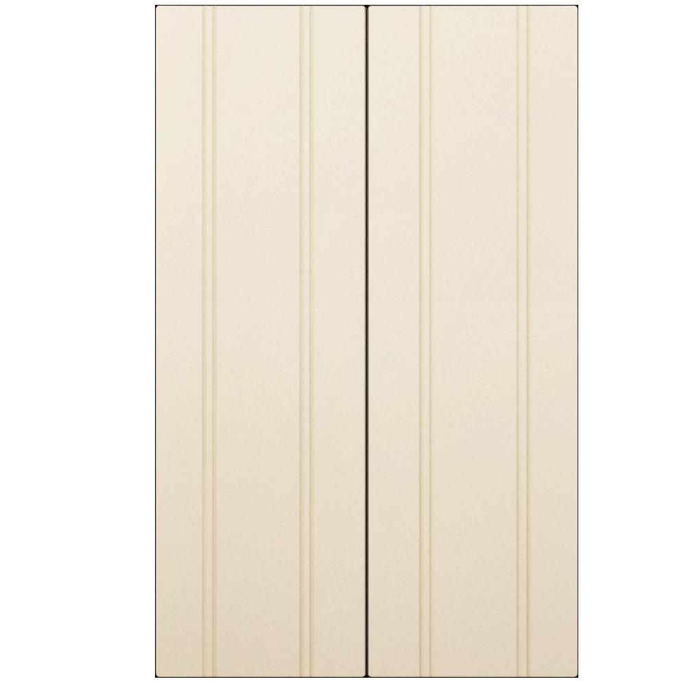 2 Door Corner Base Cabinet Set Off White  Front