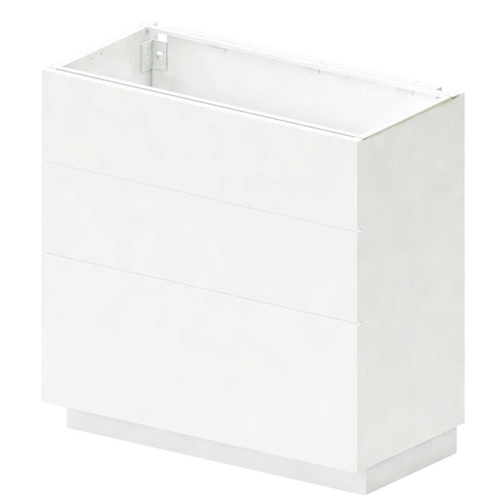 METOD Base Cabinet with Shelves 2 Doors White Ringhult White  3D View