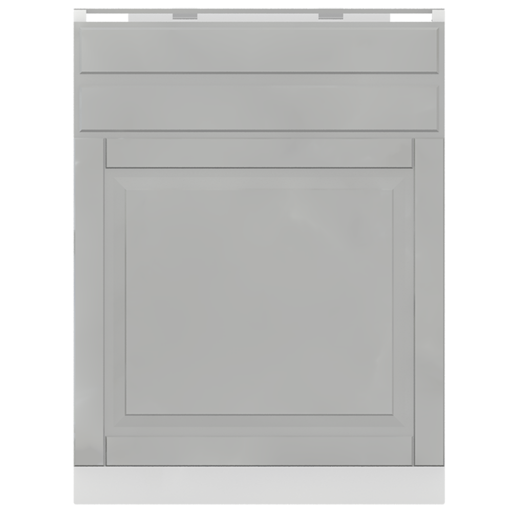 METOD MAXIMERA Base Cabinet with Doors 2 Drawers White Bodbyn Grey  Front