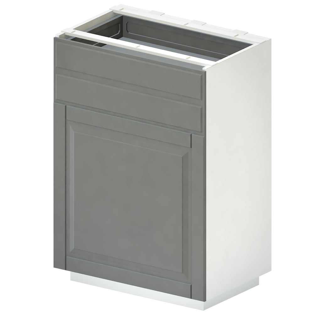METOD Base Cab Sink Waste Sorting White Veddinge Gray  3D View