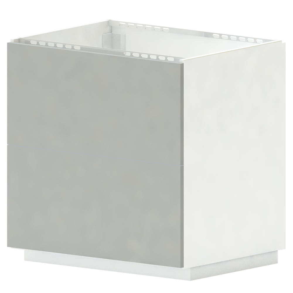METOD MAXIMERA Base cb 2 Fronts 2 High Drawers White Ringhult White  3D View
