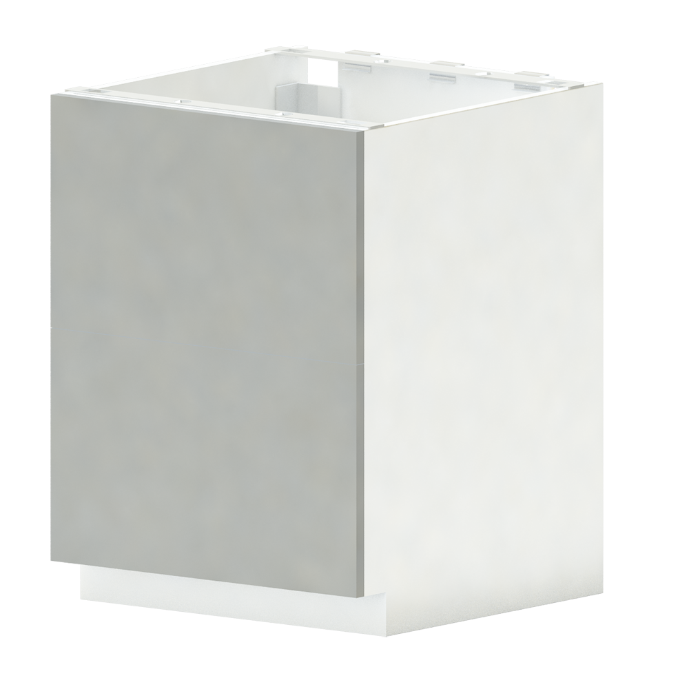 METOD FORVARA Base Cab 4 Fronts 4 Drawers White Ringhult White  3D View