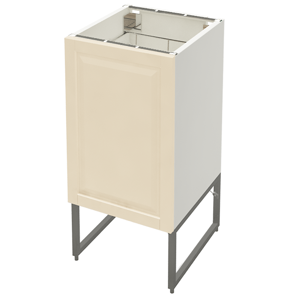 METOD Base Cabinet with Shelves 2 Doors White Veddinge Gray  3D View