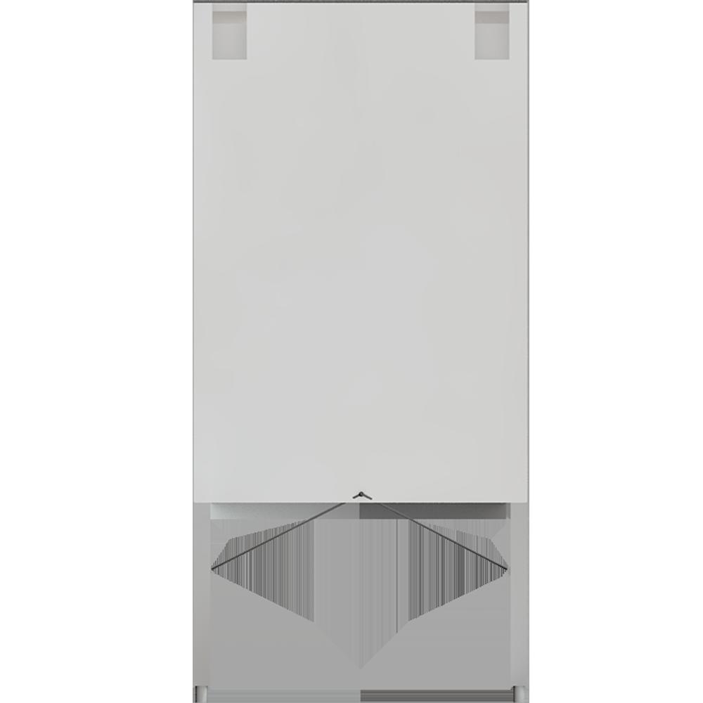 METOD Base Cabinet with Shelves 2 Doors White Veddinge Gray  Back