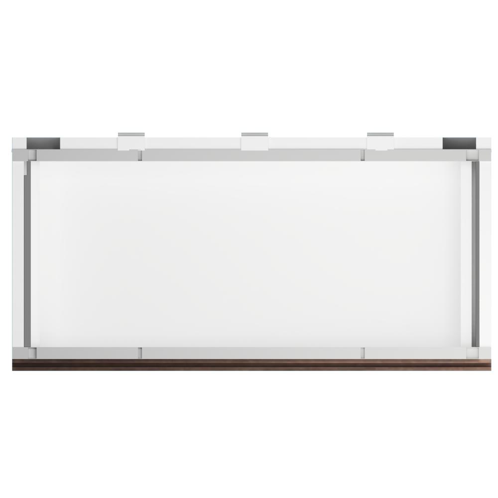 METOD High Cab Fridge Freezer with 3 Doors White Torhamn Ash  Top