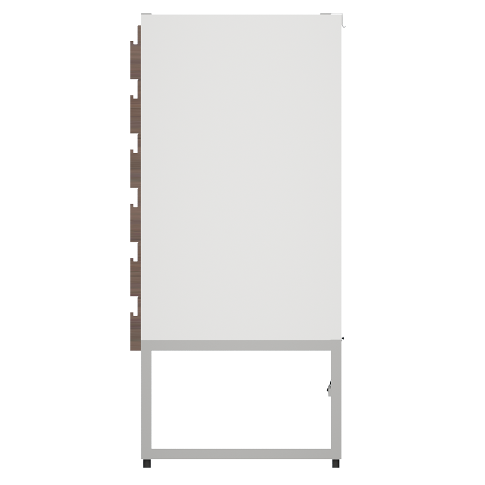 METOD High Cab Fridge Freezer with 3 Doors White Torhamn Ash  Right
