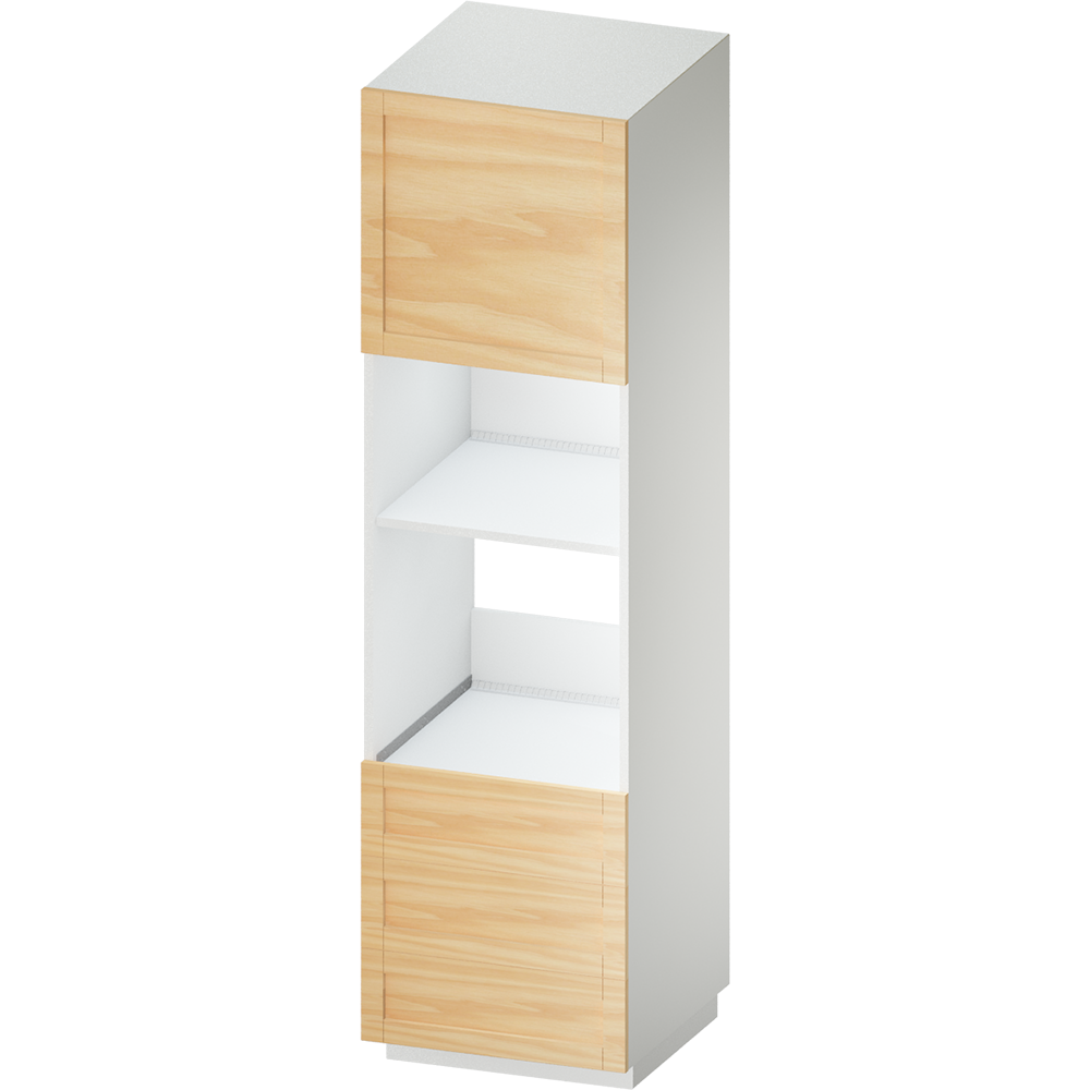 METOD MAXIMERA High Cab for Micro Combi 4 Drawers White Voxtorp Walnut  3D View