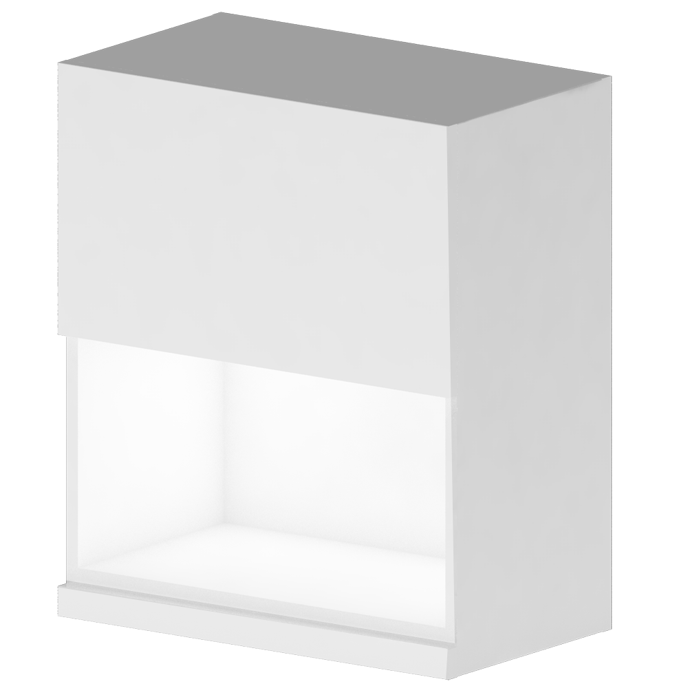METOD MAXIMERA Wall Cabinet with 2 Doors 2 Drawers White Ringhult White  3D View
