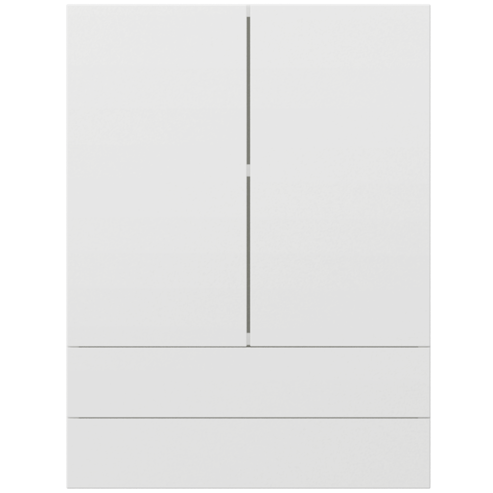 METOD FORVARA Wall Cabinet with Glass Door 2 Drawers White Bodbyn Off White  Front