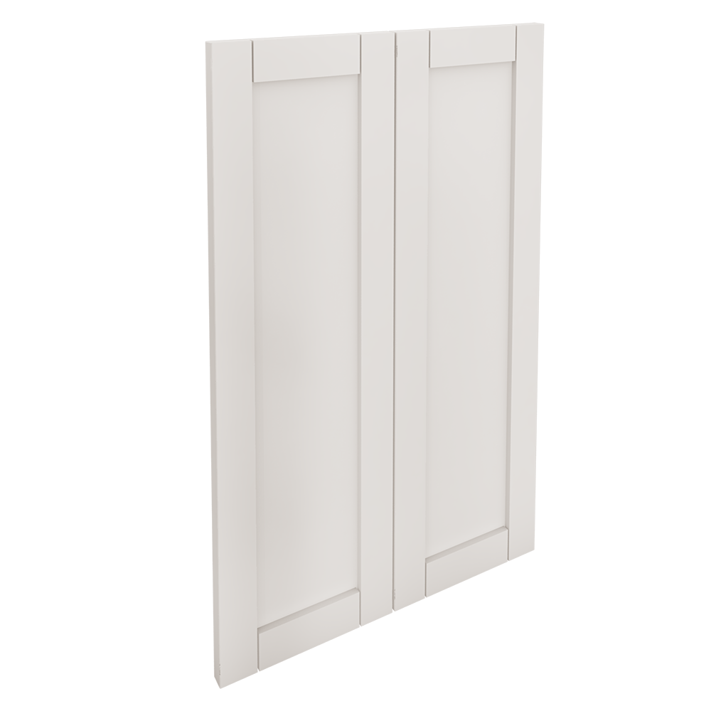 SAVEDAL 2 Door Corner Base Cabinet Set White  3D View