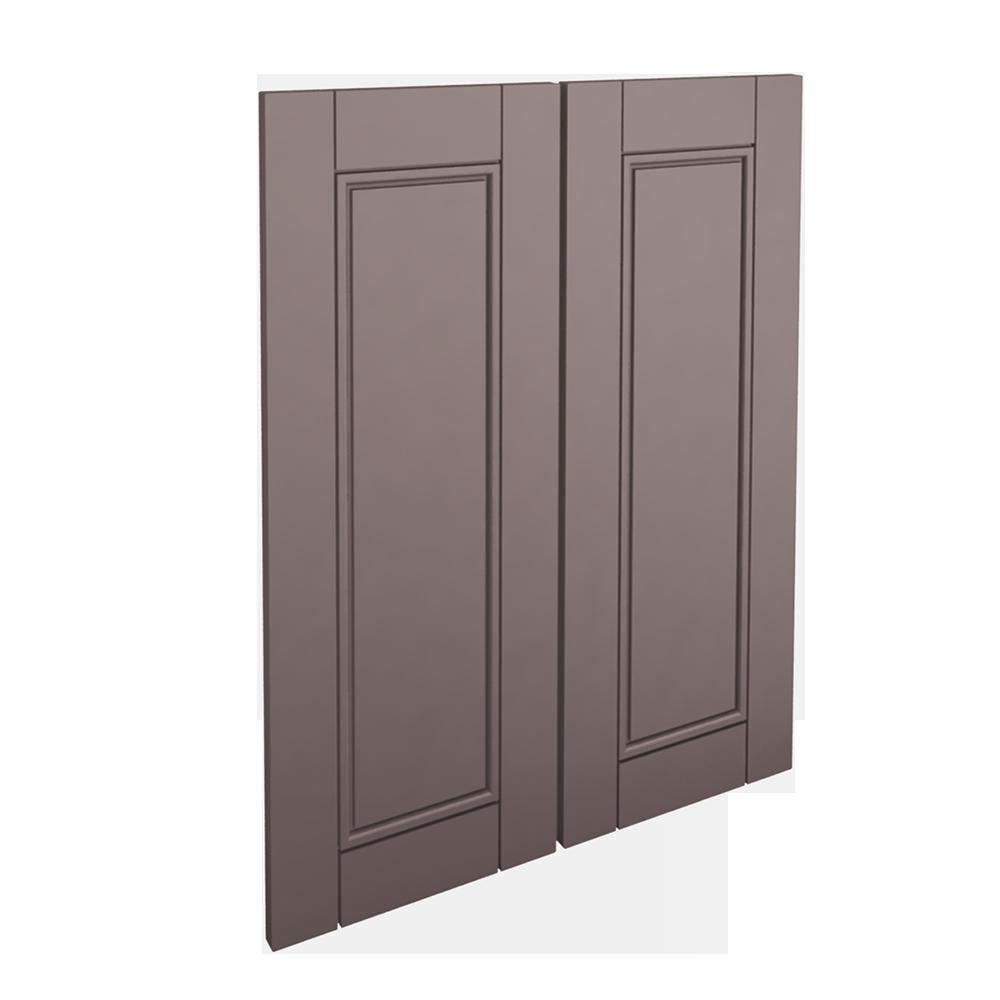 LAXARBY 2 Door Corner Base Cabinet Set Black Brown  3D View