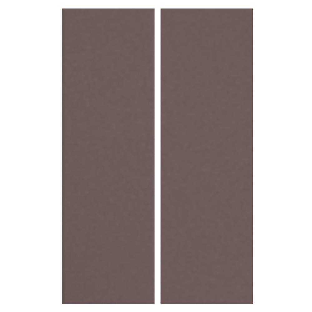 LAXARBY 2 Door Corner Base Cabinet Set Black Brown  Back