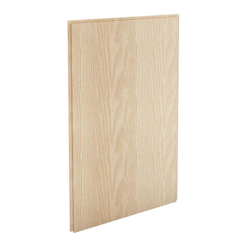 HYTTAN Front for dishwasher, oak veneer  3D View