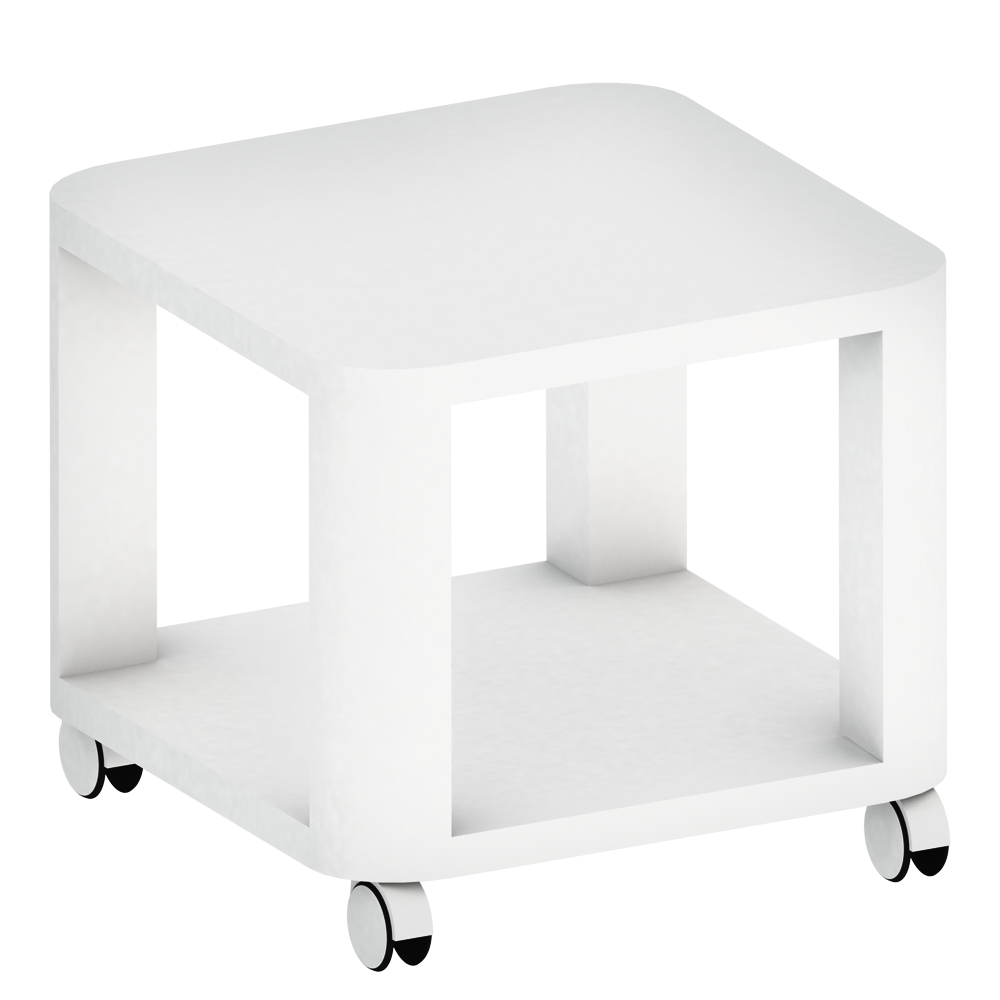 Objeto bim y cad tingby table d appoint sur roulettes ikea for Tables d appoint ikea