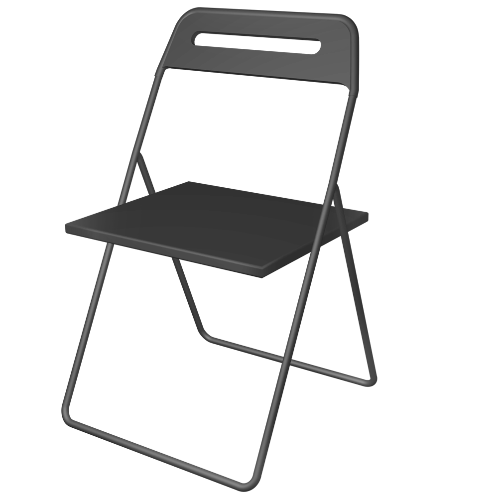 white chairs ikea nisse folding chair high. NISSE Folding Chair 3D View White Chairs Ikea Nisse High