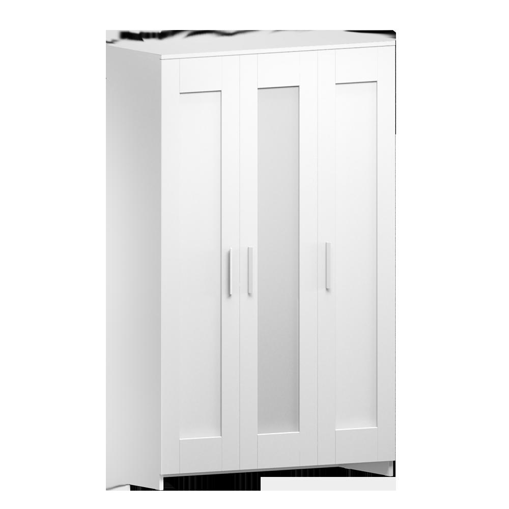 RIMNES Wardrobe with 3 Doors