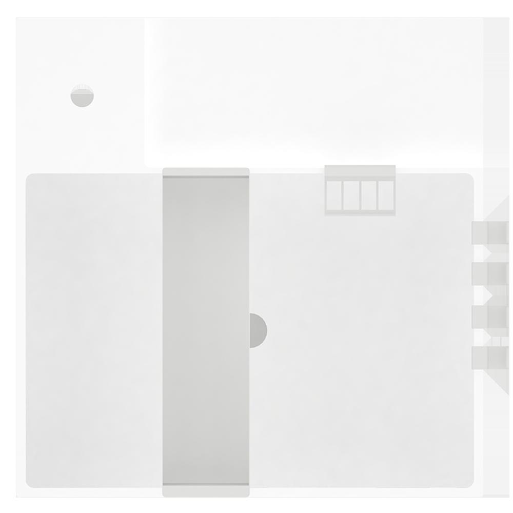 Objeto bim y cad lillangen mueble bajo lavabo con 1 for Muebles autocad