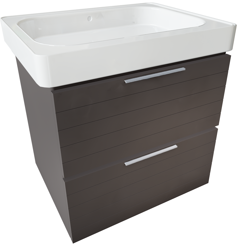 CAD and BIM object - GODMORGON ODENSVIK 2 Drawer Washbasin Unit - IKEA