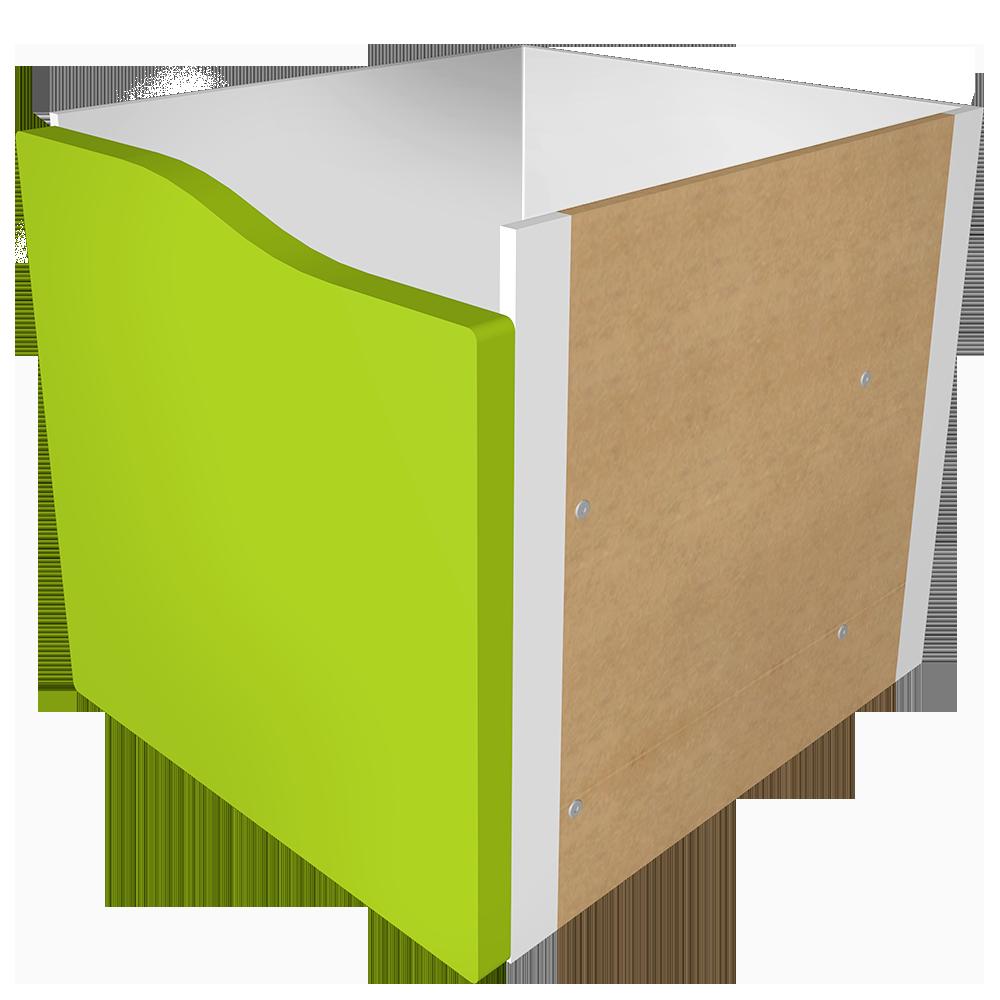 obiekt bim kallax block 1 light green drawer ikea. Black Bedroom Furniture Sets. Home Design Ideas