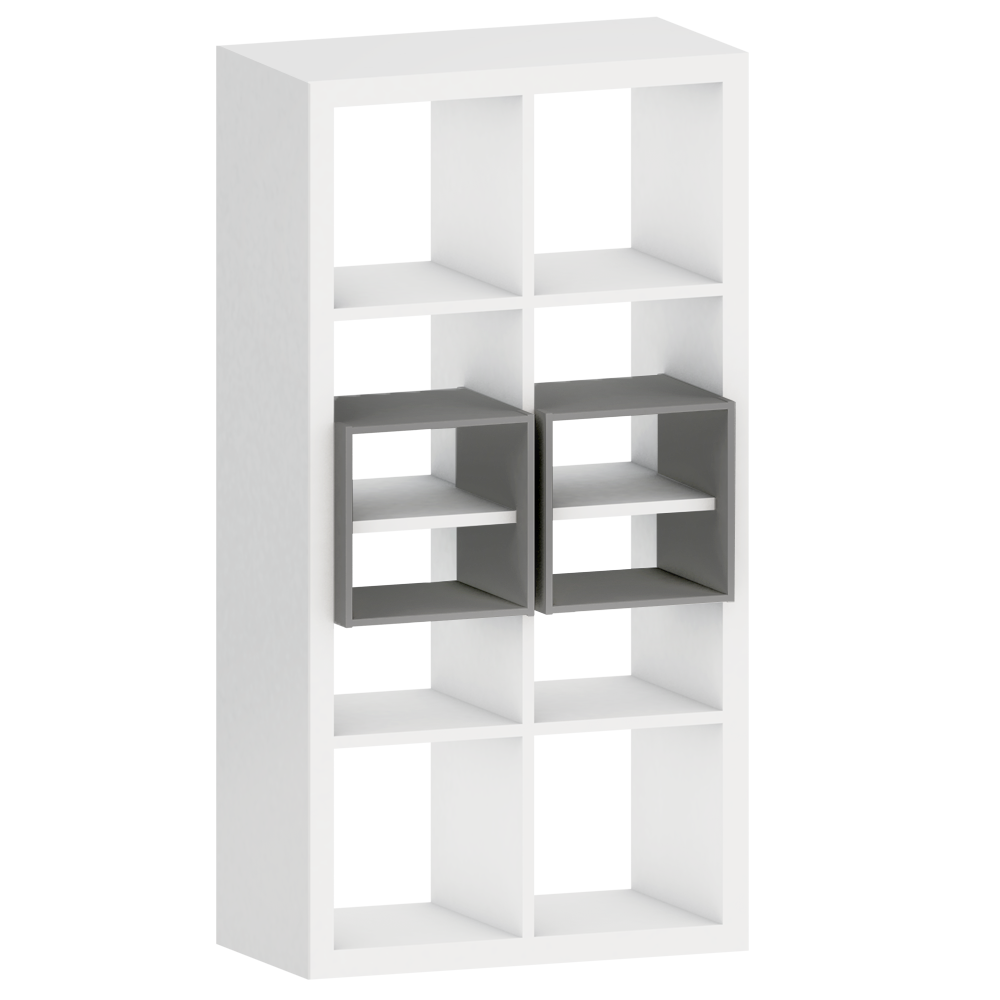 Cad And Bim Object Kallax Shelf With 2 Accessories White Ikea # Kallax Blanc