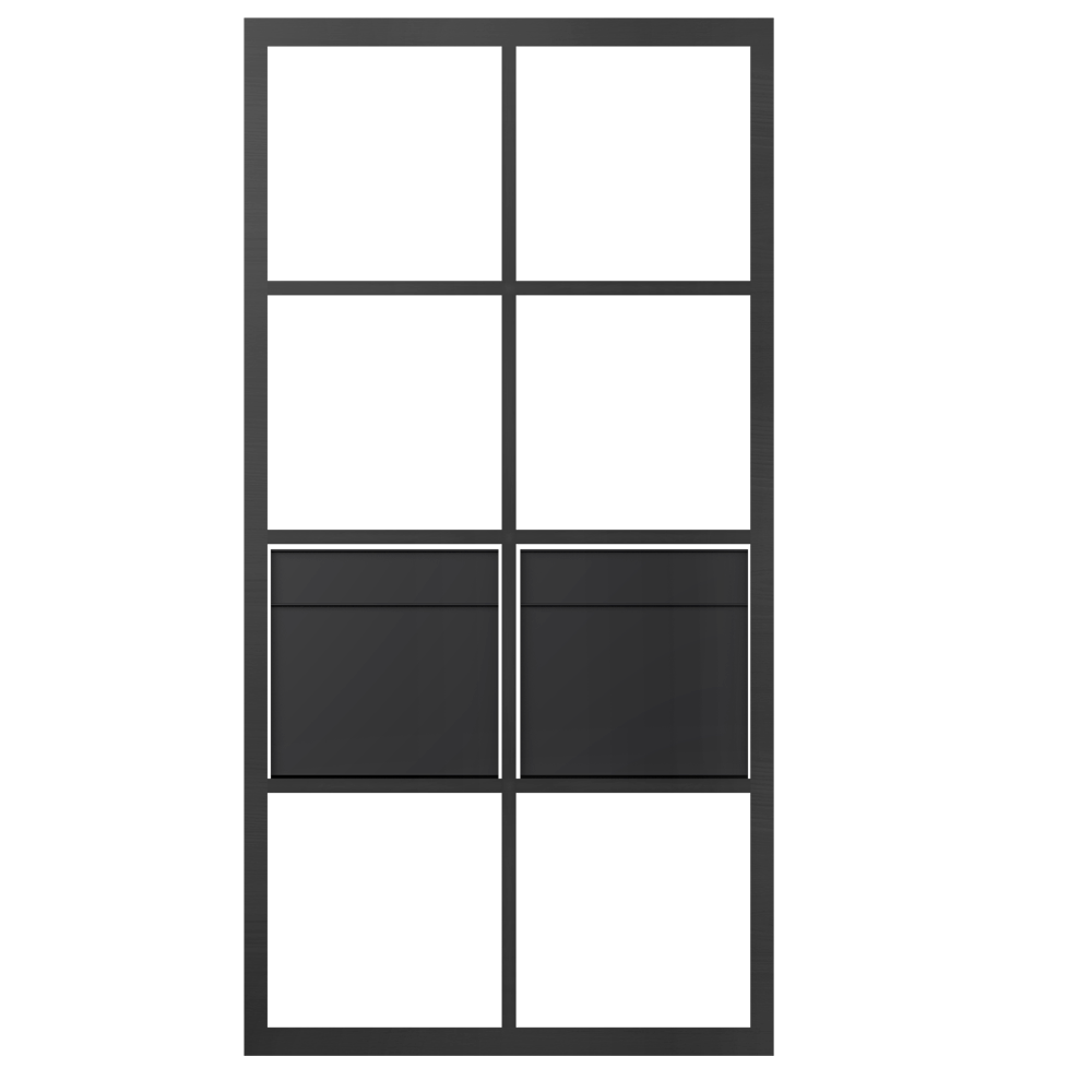 cad und bim objekte kallax regal mit 2 zubehor braun schwarz vertikal ikea. Black Bedroom Furniture Sets. Home Design Ideas