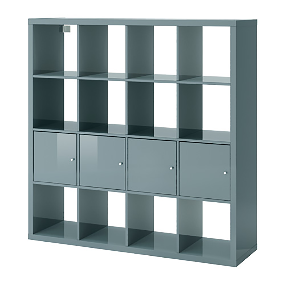 bim kallax shelf with 4 accessories glossy turquoise whole ikea. Black Bedroom Furniture Sets. Home Design Ideas