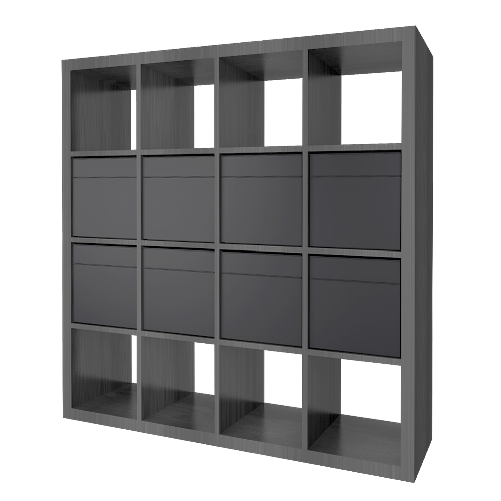 KALLAX Shelf with 8 Accessories Brown Black