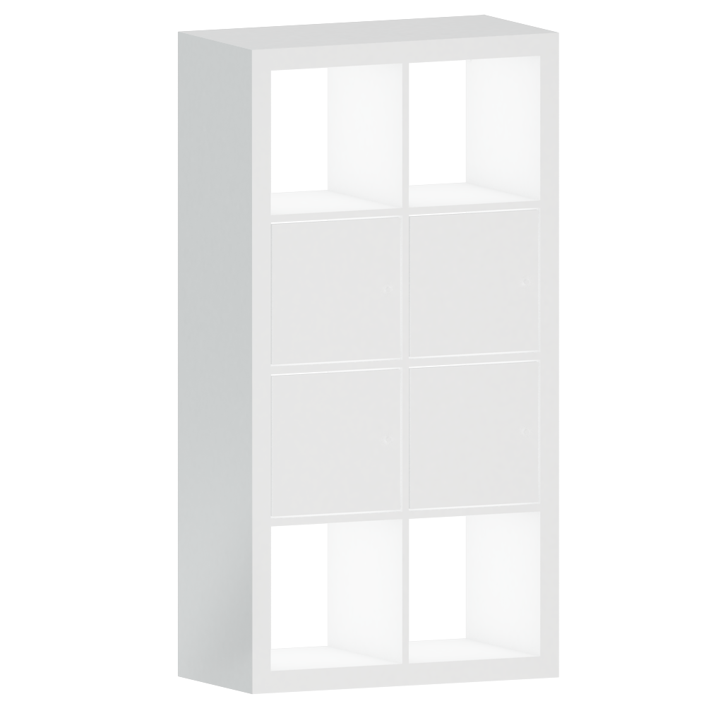 Cad And Bim Object Kallax Shelf With White Doors 77×147 Ikea # Kallax Blanc