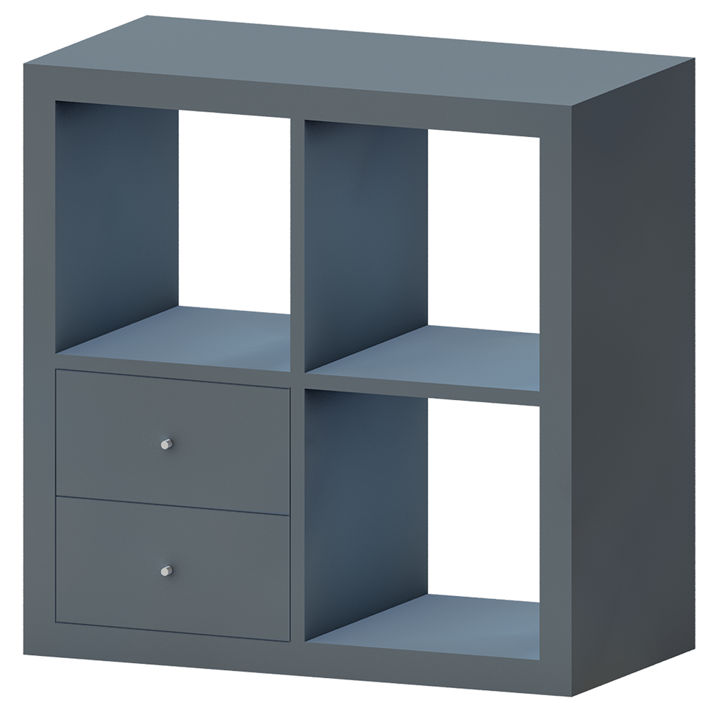 bim objekt kallax shelf with drawer glossy turquoise ikea. Black Bedroom Furniture Sets. Home Design Ideas